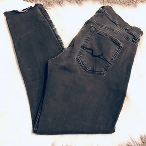 7 For All Mankind Grey Guinevere Skinny Jeans